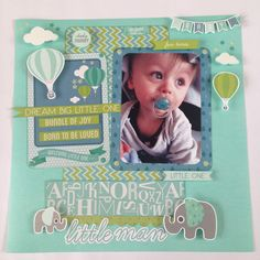 """<p>Hi there! This month I will be using the lovely collection Little One. A perfect collection for my Grandson, who is now in the toddler stage. It's a more grown up collection for his photo. The base is the gorgeous Kaisercraft card in Sea Breeze. A stunning colour. On top <a href="""" http://www.merlyimpressions.co.uk/blog/project-portfolio/scrapbooking/cheeky-monkey-using-little-one-collection/ """"> …click to read more</a></p>"""