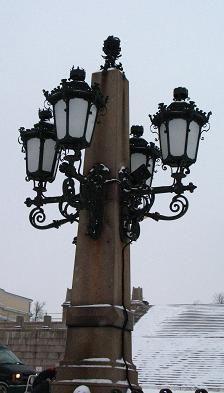 lamppost in Helsinki, Finland