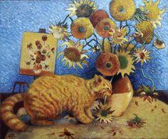 Gallery.ru / Фото #1 - Если бы Ван Гог писал котов... - Natalya55