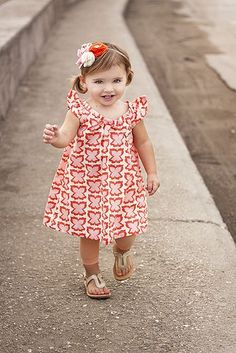 cutest little dress and headband tutorial!