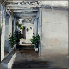 2º premio del II Certamen de pintura de la Alpujarra 2014, pintado por Cristóbal León en Capileira.  I Love Alpujarra