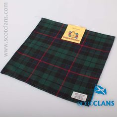 Morrison Modern Tartan Pocket Square. Free worldwide shipping available.