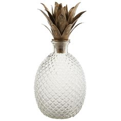 Forget your grandmother's decanter. This pineapple stunner ($45) made from glass holds all the vintage appeal without the dangers of leaded crystal.