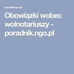 Obowiązki wobec wolnotariuszy - poradnik.ngo.pl