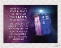 Doctor Who Birthday Invitation - TARDIS Invitation - Doctor Who Invitation - TARDIS - Dr Who Invitation - Dr Who Party - Doctor Who Party