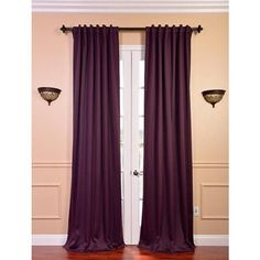Blackout Thermal Aubergine Curtain Panels (Set of 2) 50Wx84L
