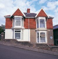 Dylan Thomas' birthplace, 5 Cwmdonkin Drive, Uplands, Swansea. The property has been restored to its 1914 condition and is open to the public as a place to visit and even stay!