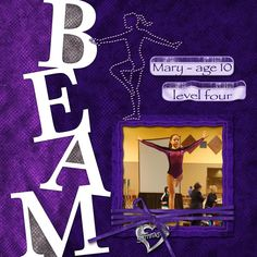digi-scrap layout of my daughter - her first year competing in gymnastics