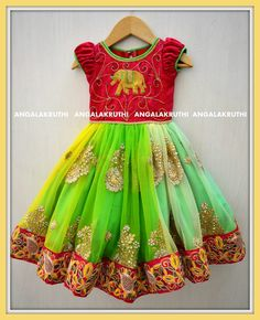 Kids Dress Wear, Kids Gown, Kids Wear, Baby Dress, Simple Gown Design, Girly Outfits, Kids Outfits, Lehanga For Kids, Kids Blouse Designs