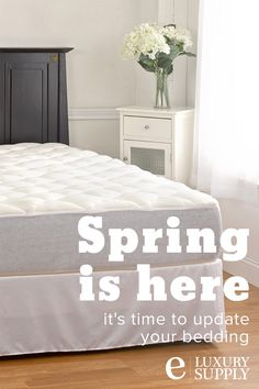 With spring approaching, it's time to update your bedding, starting with an upgrade to your mattress pad. The extra plush quilting of the bamboo mattress pad provides a more comfortable night's sleep. Our extra plush bamboo top mattress pad is the highest rated pad on the market.  Use the code ELUXPIN12 for an exclusive discount just for Pinterest users!