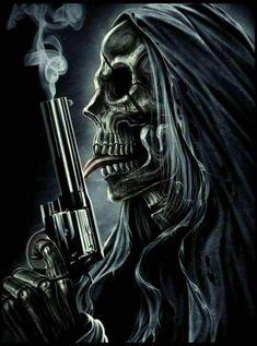 Pin By Rozzy On Rockin Skeletons Skull Art Horror Art Dark Artwork