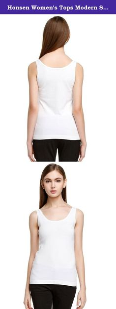 Honsen Women's Tops Modern Seamless Tank White M. 92% Rayon, 8% Spandex. Sizes have been updated from 31th August, 2016. Please choose the size by your normal size refer to our size information. Hand or Gentle Machine Wash, Line Dry. Tank features a fitted styling. Soft and breathable microfiber fabric blend creates a smooth comfortable feel.
