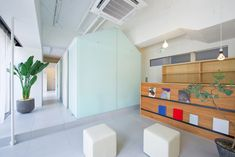"""""""We aimed to produce an space which is clean and peaceful at the same time by controlling the state of light"""", explains Architect Yo Shimada when talking about the dental clinic in Nakayamate"""