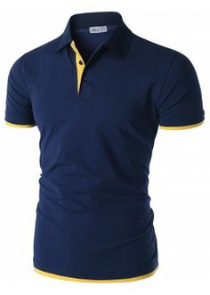 bd50f5ef Doublju for Men: Short Sleeve Polo Shirt with Placket Detail. (CMTTS034)  Trieste