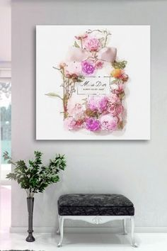 Oliver+Gal+Bouquet+Canvas+Wall+Art+On+ house and home в 2019 г. Diy Home Decor Bedroom, Room Decor, Wall Decor, Personalised Canvas, Fashion Wall Art, Oliver Gal, Inspiration Wall, Custom Canvas, My New Room