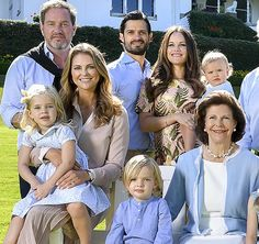 "Swedish Royal Family published a photo taken at the garden of Solliden Palace in Öland where they had their 2017 summer holiday, with the message ""Greetings from Solliden Palace""."