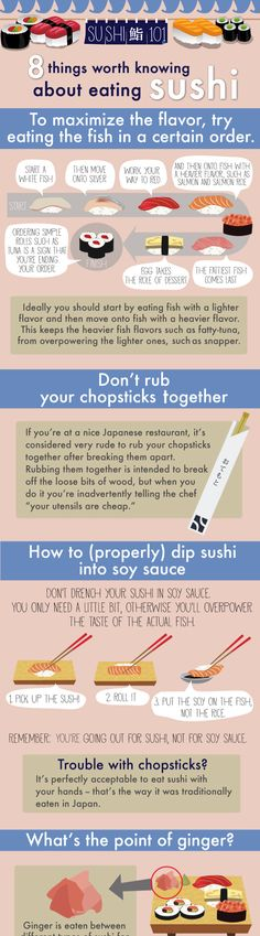 8 things worth knowing about eating sushi (click link for the full infographic)