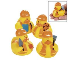 Construction Rubber Duckies :   These cool rubber duckies work hard at having fun!