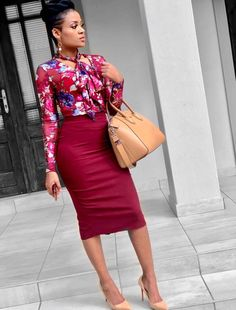 Ideal Corporate Outfits For Career Queens – Business professional outfits for interview Skirt Outfits Modest, Casual Work Outfits, Professional Outfits, Office Outfits, Work Attire, Work Casual, Chic Outfits, Fashion Outfits, Fashion Trends