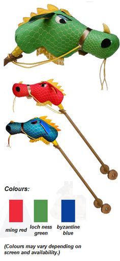 Dragon hobby horse from Dobbin and Drum