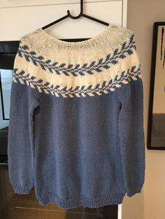 Marygenser på min måte, brukte Merino/Cotton fra Drops pnr 4,5 Drop, Sweaters, Cotton, Fashion, Moda, La Mode, Sweater, Fasion