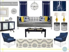 Interior Design Board, Jonathan Adler, Online Interior Design,  e design, e decorating, style boards, inspiration boards, living rooms, www.stellarinteriordesign.com/design/