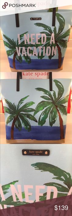🆕KATE SPADE NEW LARGE SHOULDER TOTE 💯AUTHENTIC KATE SPADE NEW WITH TAGS NEVER USED LARGE SHOULDER TOTE 100% AUTHENTIC. SO STUNNING AND STYLISH! PERFECT SPRING AND SUMMER BAG. TRUE HIGH END QUALITY AND FUN FASHION. THIS ROOMY BAG HAS TWO WONDERFUL INTERIOR WALL POCKETS! THE BAG MEASURES 15.5 INCHES WIDE BY 13.5 INCHES TALL! THE SHOULDER STRAPS HAVE A 8 INCH DROP kate spade Bags Totes