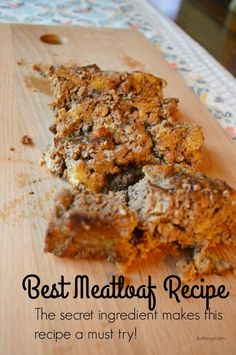 The secret ingredient in this meatloaf makes it super tasty and moist.  It is a must try!