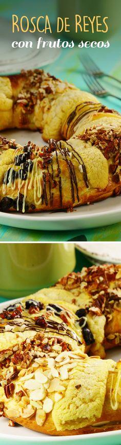 Este Día de Reyes sorprende a todos con esta versión original de Rosca de Reyes decorada con frutos secos ¡Será la nueva favorita!