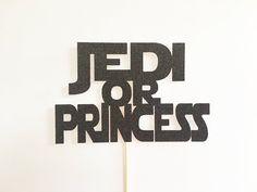 Star Wars Gender Reveal / Star Wars Cake Topper / Star Wars Gender Reveal Decorations / Jedi or Princess / Jedi or Princess Gender Reveal by LittleParteeShoppe on Etsy