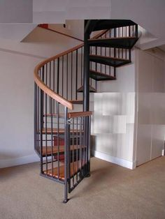 Spiral stairs for the lounge.