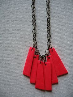 Polymer Clay Fringe Necklace @whimseybox
