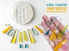 Stampo Trasparente Trapezi 5 misure-12 cavita'x  di HOUSEOFMOLDS