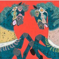 "jennifer davis - large scale painting from ""joyride"""