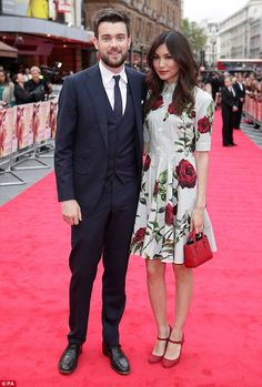 Stealing the style limelight: Gemma Chan turned heads in a pretty floral frock as she attended the world premiere of Bad Education with its leading star and her boyfriend - Jack Whitehall - in London on Thursday night New Look Fashion, Asian Fashion, Fashion Models, Girl Fashion, Fashion Outfits, Celebrity Dresses, Celebrity Style, Bad Education, Gemma Chan