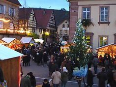The Christmas market in Riquewihr is open every day from end of November until short before Christmas