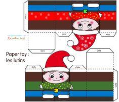 Christmas Games, Christmas Elf, Christmas Printables, Christmas Crafts, Xmas, Christmas Houses, Paper Box Template, Paper Toys, Doll Toys