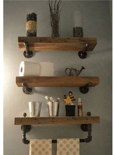 Trent Austin Design Borrero Industrial Pipe Accent Wall Shelf
