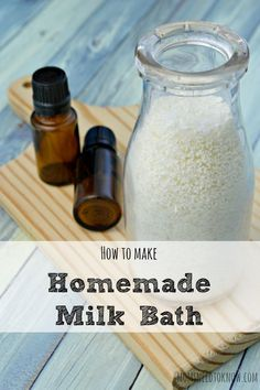 This homemade milk bath recipe will leave your skin feeling soft and supple, refreshed and invigorated!