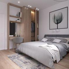 Kleiderschrank aus Holz im Schlafzimmer