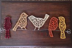 Birds on a wire string art sign van op Etsy Need fantastic ideas regarding arts and crafts? Head to our great site! Nail String Art, String Crafts, String Art Quotes, Resin Crafts, Cute Crafts, Diy And Crafts, Arts And Crafts, Diy Art, Arte Linear