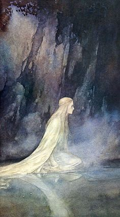 """Lady of the Lake "" © 1978 by Alan Lee"
