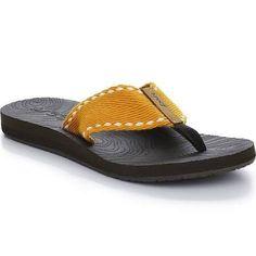 4cd140f3382494 Reef Zen Wonder Flip-Flop in Brown Yellow. Little Feet Childrens Shoes