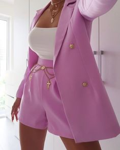 Lilac Double Button Blazer view main view Source by FrugalNamibian Dress Classy Outfits, Chic Outfits, Fashion Outfits, Fashion Trends, Love Fashion, Fashion Looks, Womens Fashion, Fashion Beauty, Looks Street Style