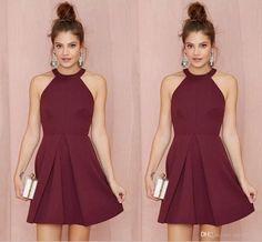 halter-burgundy-short-cocktail-party-dresses