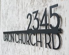 Modern House Numbers - African Teak Iroko & Black Acrylic - Contemporary Home Address - Door Number - Modern House Plaque sign Large House Numbers, Metal House Numbers, House Number Plaque, House Name Plaques, Custom Street Signs, Personalized Street Signs, Address Plaque, Address Signs, Mailbox Decals