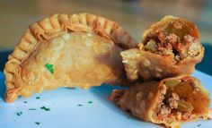 Today's Menu: Empanadas con Carne Molida, Steam Rice & Avocado. Yummm
