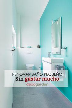 Te damos un montón de trucos y consejos para renovar un cuarto de baño pequeño sin gastar mucho dinero. Sink, Bathtub, Bathroom, Ideas, Home Decor, Small Bathrooms, Money, Hacks, Space