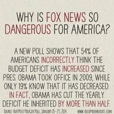 "Fox ""news"" is dangerous for America!....... VOTE OUT the GOP in 2016 AND BRING back the FAIRNESS Doctrine.....take the lies out of the 'news'."