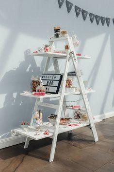 Candybar aus einer Leiter selbstgebaut.